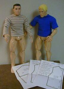 Short-Long-Sleeve-T-Shirt-Pattern-22MOH01-For-22-Inch-Men-Of-Honor-Figures-Dolls