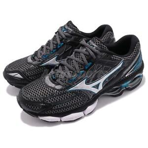 Mizuno Wave Creation 19 Black Blue Men Running Shoes Sneaker Trainer ... 1e111b6ff71
