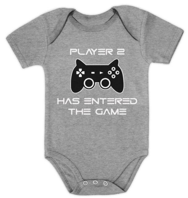 Threadrock Baby Player 2 Has Entered the Game Infant Bodysuit Brother Sister