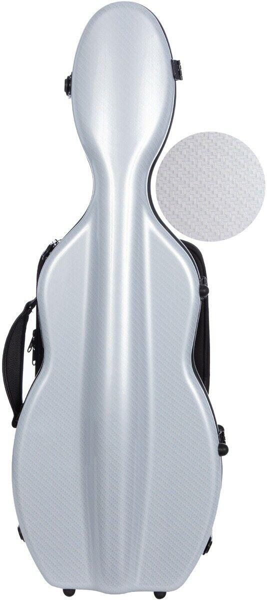 USA Shaped violin case Fiberglass UltraLight 4 4 M-case Silber Special