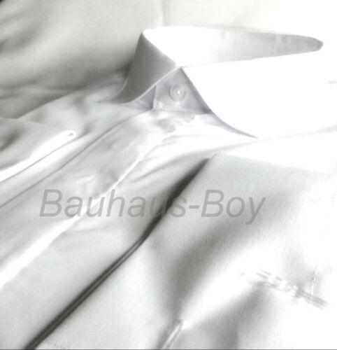 Camicia Bianca Colletto Vittoriano Splay alta Abito WING tutte le taglie Formale Matrimonio Kilt