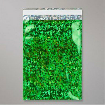 "50 Metallic Blue Christmas 12.5 /""x 17/"" Foil Mailing Postage Postal Bags"