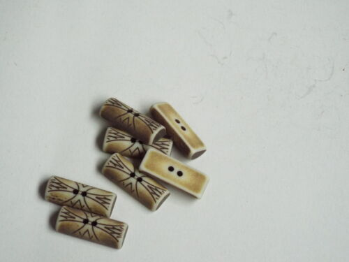 5pc 30mm Mock Aged Carved Cross Bone toggle ideal for Duffle Trench coat 2356