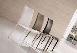 Sedia moderna imbottita cucina soggiorno salotto in cuoio