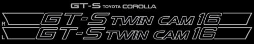 85 Corolla GTS Twin Cam 16 Decal Set