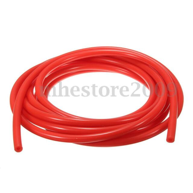 4mm Silicone Vacuum Hose Tube Silicon Tubing Line Pipe 16.4ft 5M 5 Meters Red  sc 1 st  eBay & 4mm Silicone Vacuum Hose Tube Silicon Tubing Line Pipe 16.4ft 5m 5 ...