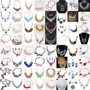 HOT-Fashion-Women-Jewelry-Pendant-Choker-Chunky-Statement-Chain-Bib-Necklace
