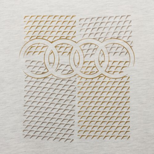 S M L XL grau Metall-Optik Original Audi Sport Shirt Damen Audi Ringe