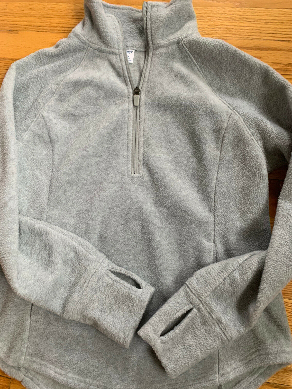 Old Navy Women's Go-Warm Micro Fleece 1/4-Zip Sweatshirt Petite XS PXS Gray EUC