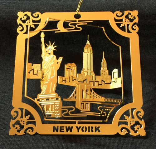 EMPIRE STATE BUILDING STATUE OF LIBERTY NEW YORK THEMED CHRISTMAS ORNAMENTS