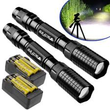 8000Lumen LED 18650//AAA Flashlight Zoomable Torch Focus Flashlight Lamp Gift GA