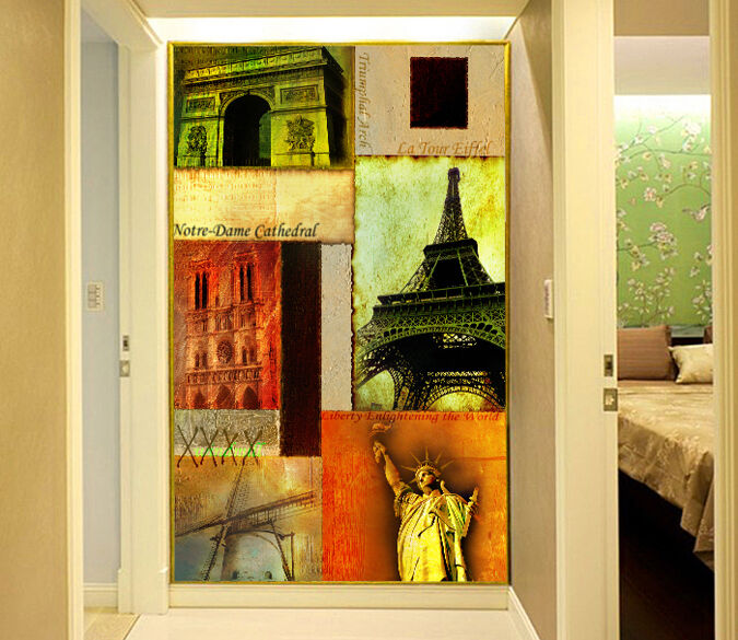 3D Abstract art bridge 1WallPaper Murals Wall Print Decal Wall Deco AJ WALLPAPER