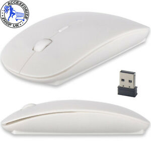 Wireless-Mouse-Slim-2-4-GHz-USB-Optical-Cordless-Scroll-for-PC-Mac-Laptop-White