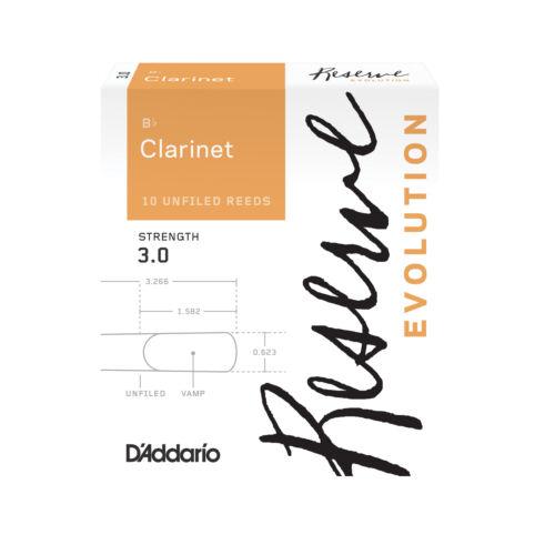 10 Box D/'Addario Reserve Evolution  Bb Clarinet Reeds Size 3.0