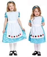 Alice in Wonderland Kids Dressing Up Costume Fancy Dress Girls Toddlers 3-12 Yrs