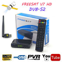 Satellite TV Receiver Freesat V7 HD DVB-S2 1080P Set Top Box Support USB Wifi