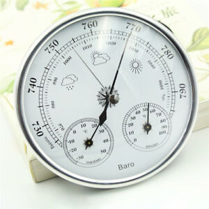 Image Is Loading 3 In 1 Wall Hanging Weather Station Barometer