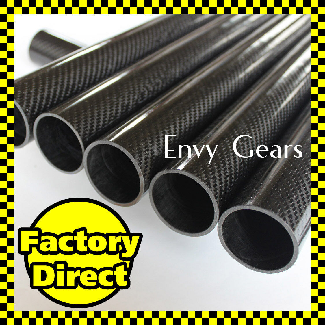 2 pcs x Glossy 12mm OD  8mm ID  1000mm 3K Roll Carbon Fiber Tube 12 8 1000