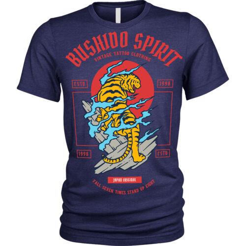 Bushido Spirit T-Shirt Tiger japanese Unisex Mens
