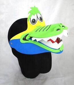 Crocodile-Animal-Zoo-Farm-Jungle-Safari-Foam-Visor-Fancy-Dress-Hat-Cap-New