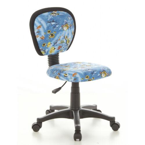 Kinderschreibtischstuhl Kinderstuhl  KIDDY TOP Aquarium Stoff blau hjh OFFICE