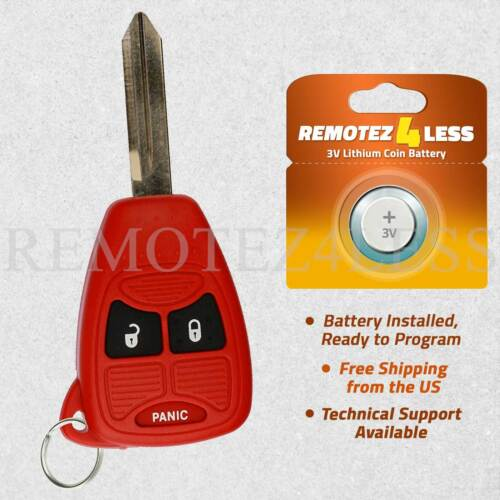 Keyless Entry Remote for 2005 2006 2007 Jeep Grand Cherokee Car Key Fob Red