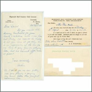 Details about David Bowie 1963 The Konrads Highcroft Hall Concert  Invitation & Letter (UK)