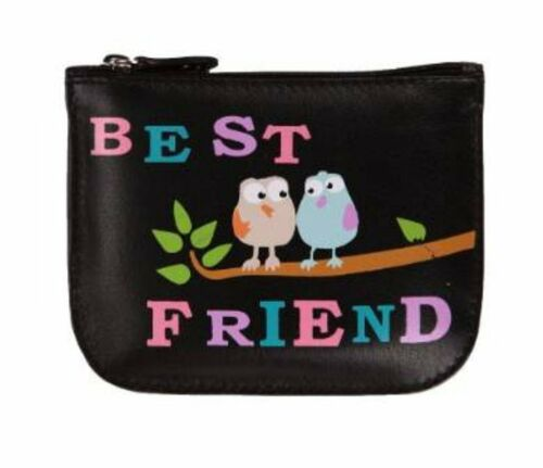 Card and Key Purse Best Friend Leather Coin