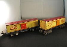 Lionel USA n° 1679 Wagon marchandises Curtiss Baby Ruth lot de 2 en O