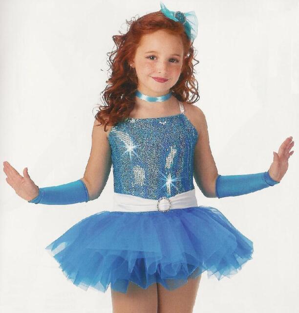 Clearance Too Cute Ballet Tutu Dance Dress Costume Blue Child Small