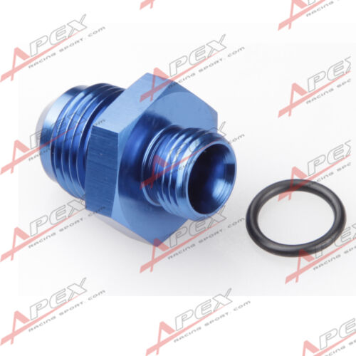10AN AN10 Male Flare To 8AN AN8 Straight Cut O-Ring Fitting Blue