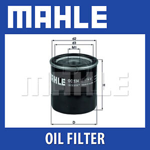 Mahle-Oil-Filter-OC534-Fits-Toyota-Auris-Genuine-Part