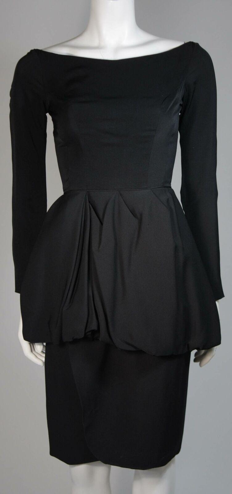 CEIL CHAPMAN Black Draped Princess Style Waist Dr… - image 3