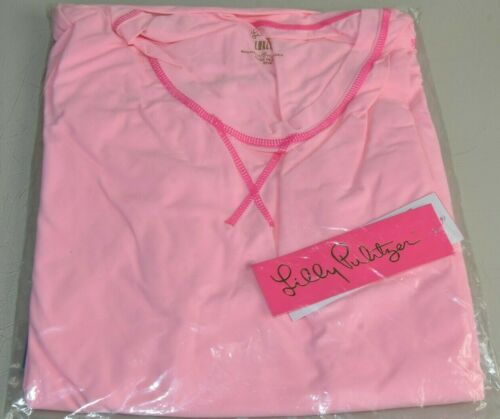 Details about  /NEW Lilly Pulitzer UPF 50 LUXLETIC MERYL NYLON RENAY Coral Reef Pink Top S M