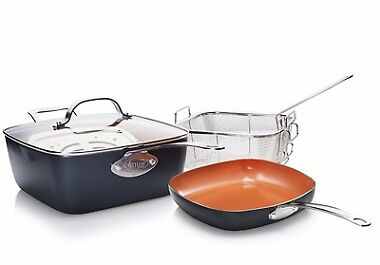 Gotham Copper Nonstick Deep Square Pan & Shallow Square Pan