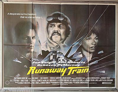 Run away train Jon Voight Eric Roberts Movie poster