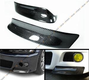 FOR-01-06-BMW-E46-M3-100-REAL-CARBON-FIBER-SPORT-CSL-FRONT-BUMPER-LIP-SPLITTER