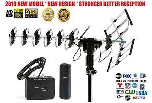 200 Miles Outdoor Amplified HD TV 1080P Antenna Long Range 38dB 360° Rotator USA