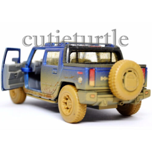 Kinsmart KT5097DY 2005 Hummer H2 SUT 1:36 Diecast Toy Car Muddy Blue