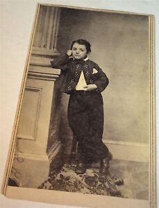 Antique-American-Civil-War-Era-Dapper-Fashion-Little-Boy-Springfield-CDV-Photo