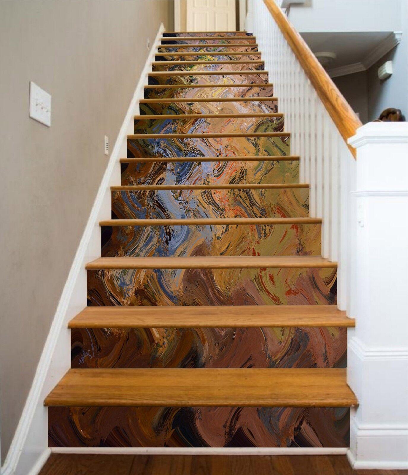 3D Palette Welle 74 Fliese Marmor Stair Risers Fototapete Vinyl Aufkleber Tapete