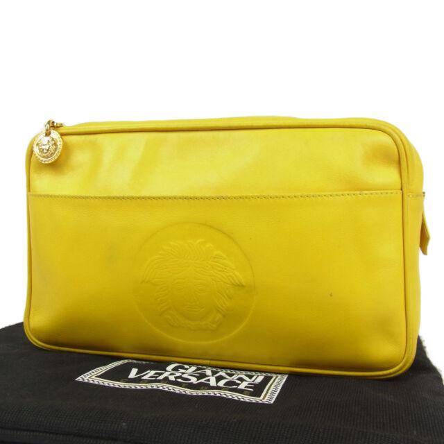 Auth GUCCI Plus Vintage GG PVC Leather Clutch Bag Pouch F S 2972   eBay 056c1a1309