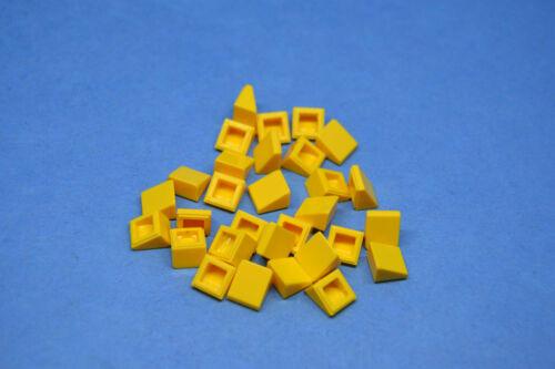 LEGO 30 x Stein 1x1 x 2//3 Schrägstein gelb yellow brick roof tile 54200 4504381