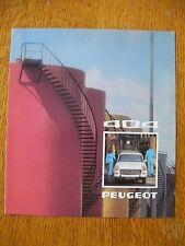 Auto Werbe-Prospekt Peugeot 404 von 1974 zum Ausklappen