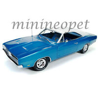 Autoworld Amm1100 Hemmings 1969 Dodge Charger 1/18 Diecast Model Car Blue