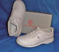 Rockport, Women's Walking Shoe, White Leather. 7 1/2 Xw In Box