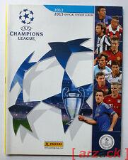 ALBUM CALCIATORI PANINI UEFA CHAMPIONS LEAGUE 2012-13 vuoto con figurine cedole