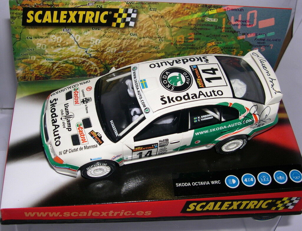 SCALEXTRIC 6124 SKODA OCTAVIA WRC OPEN CATALUNYA 2004 LLUMP LLAMP OF DRIVER MB