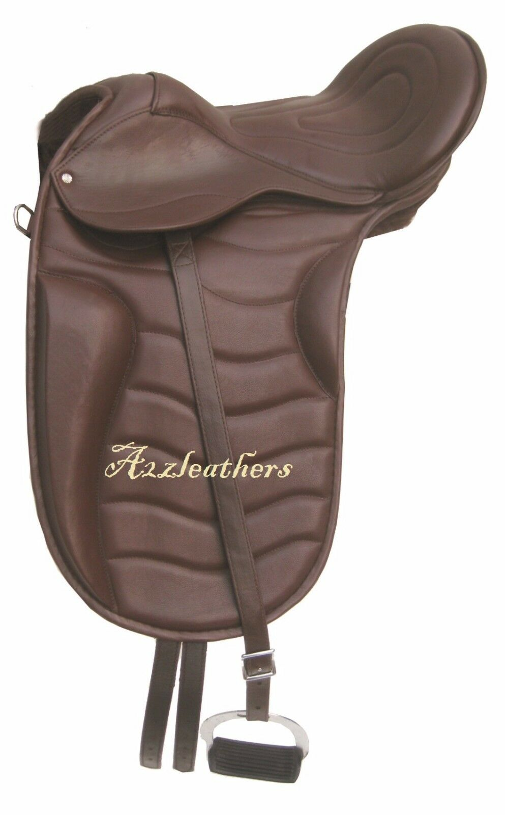 Exclusive Leather Dressage Treeless Saddle in freemax style, 6 Sizes fre acesory