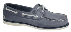 Clásico 2 Zapatos Hombre Náuticos Con Azul Ojos Timberland Cordones Cuero A130m ABwn5q8d